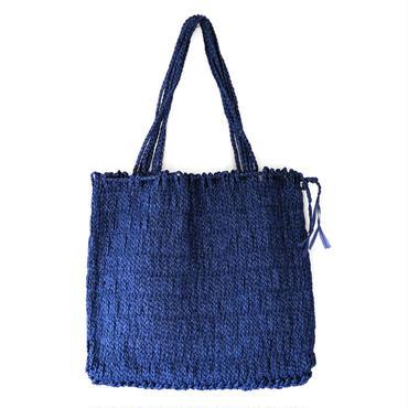 和紙の縄文編みトートバッグ(ブルー)【10604】