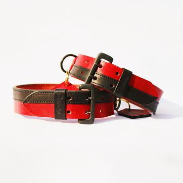 R&B Dog collar (赤と黒の首輪)
