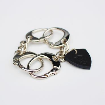 POISONIVYオリジナル<キースモデル>手錠型ブレスレット<シャイニータイプ・シルバーカラー>Sサイズ