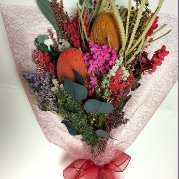 太陽の花「バンクシア」の花束  プレゼントに最適!!(珍しいオーストラリア・プリザーブド)お祝い・プレゼントにも最適!!