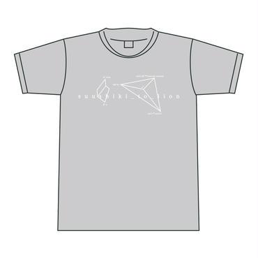 Tシャツ <グレー>【数式とライオン】