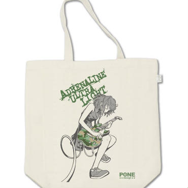 トートバッグ GuitarGirl Green