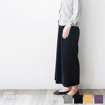 ベロア・8分丈ワイドパンツ(PH9606)