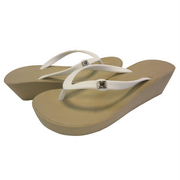 5CM Two Tone Wedges - Sand×White