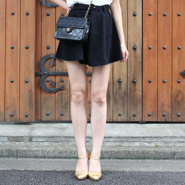 【SUMMER COLLECTION】ベルト付きミニスカート
