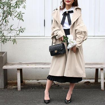 【pour Mademoiselle】パフスリーブトレンチコート