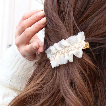 【pour Mademoiselle】チェーンバレッタ ホワイト ブラック
