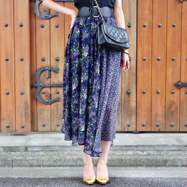 【SPRING SUMMER COLLECTION】イレギュラーパターンスカート パープル