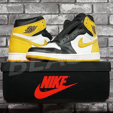 NIKE AIR JORDAN 1 RETRO HIGH OG IN THE GAME COLLECTION YELLOW OCHRE 555088-109