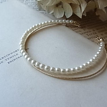 wire&Pearl doublebangle