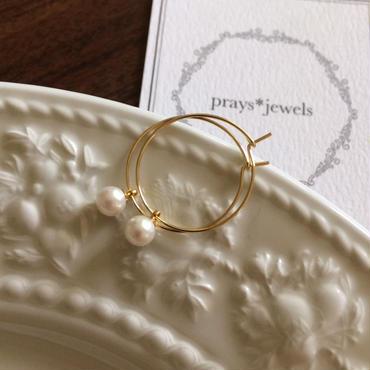 vintage pearl hoop pierce
