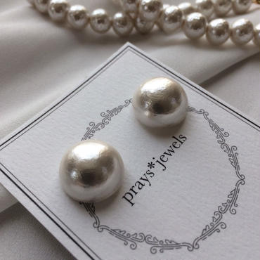 cotton pearl magnet pierced・earringsノンホールピアス