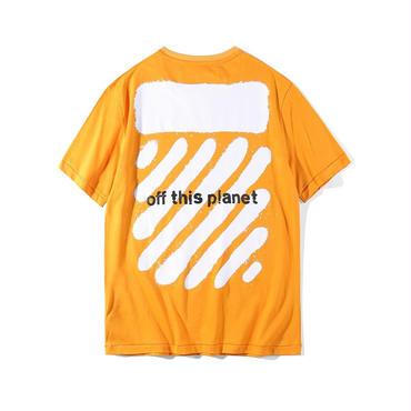 新作!OFF-WHITE(オフホワイト) ◆プリントロゴ Tシャツ 半袖春夏男女兼用