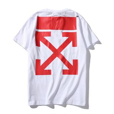 OFF-WHITE(オフホワイト) ◆プリントロゴ Tシャツ 半袖春夏男女兼用