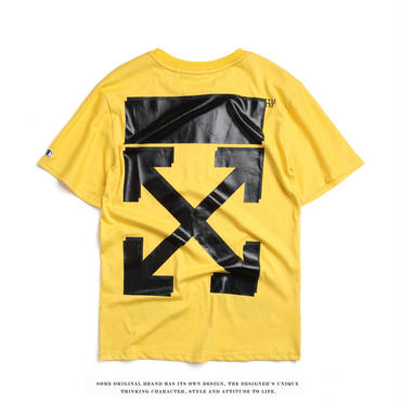 OFF-WHITE(オフホワイト) x Champion Tシャツ プリント トップス 半袖男女兼用[並行輸入品]