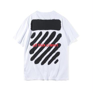 新作!OFF-WHITE(オフホワイト) ◆春夏  /プリント /半袖 Tシャツ 男女兼用