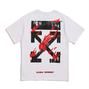 OFF-WHITE(オフホワイト) ◆Tシャツ プリント トップス メンズ レディース 半袖 丸首 春夏