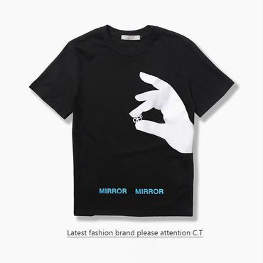 OFF-WHITE(オフホワイト) ◆ Tシャツ カットソー offwhite T-Shirt 半袖 夏 プリント カッコイイ 丸首男女兼用 [並行輸入品]