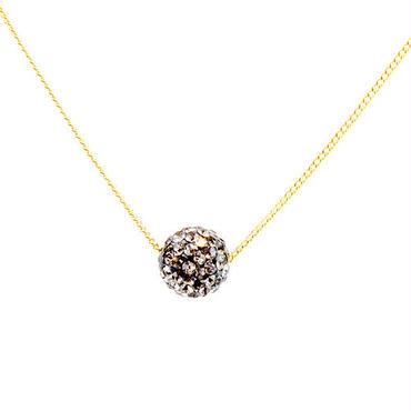 ラインストーンパヴェネックレス(ブラックダイヤモンド)