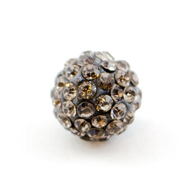 ラインストーン パヴェボール パーツ 1個 10mm ブラックダイヤモンド