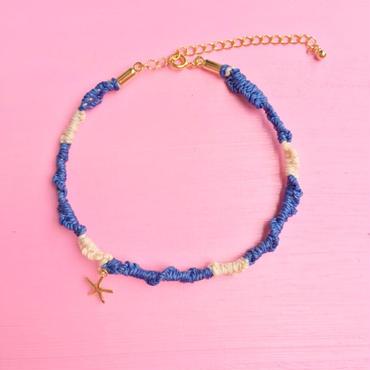 misanga anklet-blue-