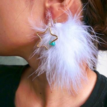 white fur star pierce
