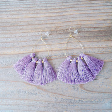 tassel pierce-purple-