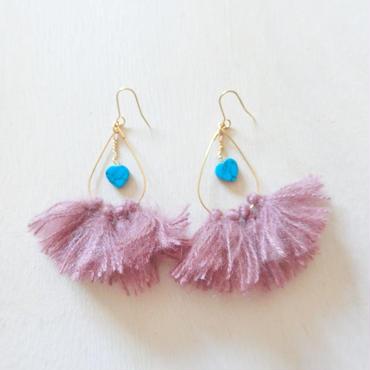 turquoise heart fringe pierce-pink-