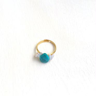 turquoise pinkie ring