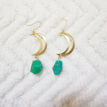 moon×amazonite pierce