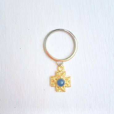 cross ring -blue-