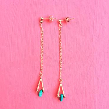 turquoise triangle pierce