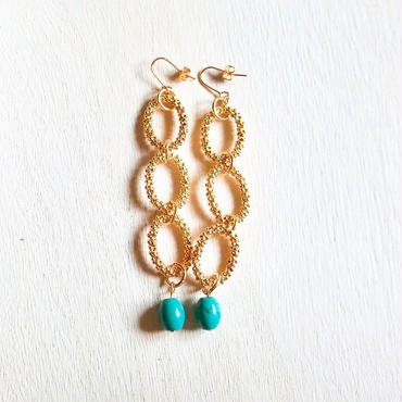 circle turquoise pierce