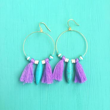 hoop tassel pierce-purple-