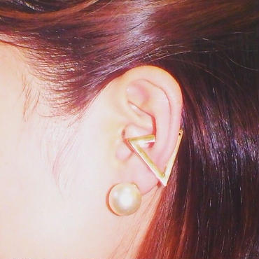 triangle ear cuff