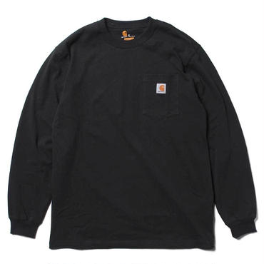 【ラス1】Carhartt WORKWEAR POCKET L/S tee ブラック XXL
