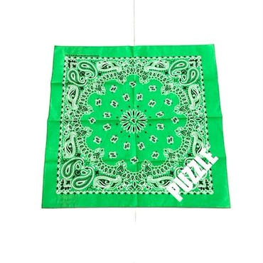 PUZZLE MADE IN USA bandana グリーン