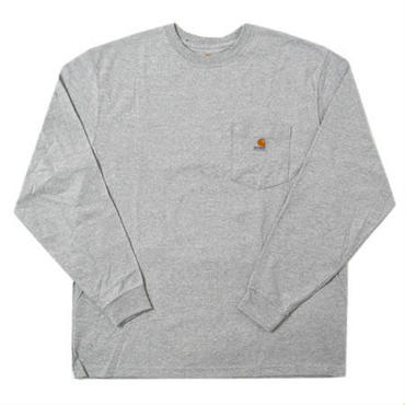 【ラス1】Carhartt WORKWEAR POCKET L/S tee グレー XXL
