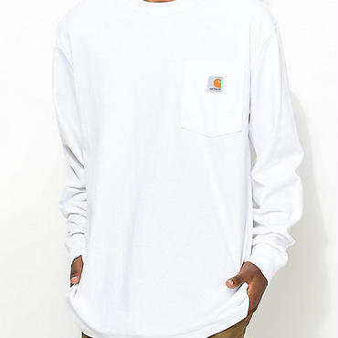 Carhartt WORKWEAR POCKET L/S tee ホワイト L