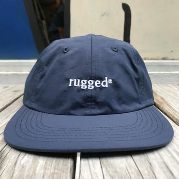 RUGGED rugged® nylon shallow cap ネイビー×ホワイト