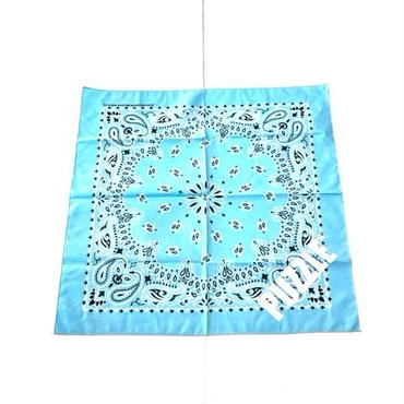 PUZZLE MADE IN USA bandana サックス