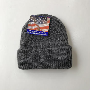 【ラス1】MADE IN USA ACRYLIC beanie グレー