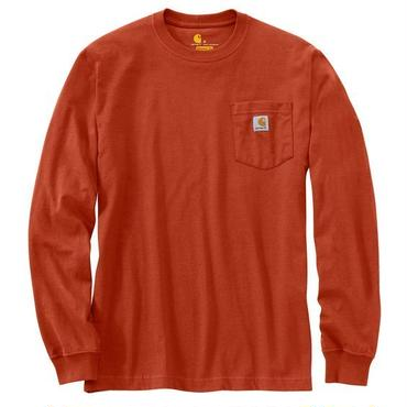 【ラス1】Carhartt WORKWEAR POCKET L/S tee チリ XXL