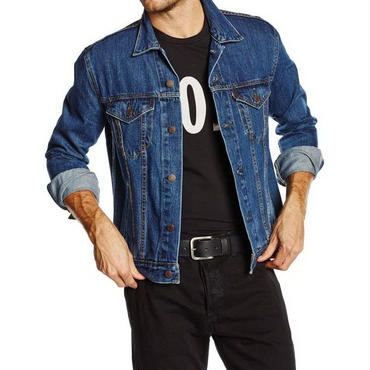 【ラス1】Levi's DENIM TRUCKER jacket ダークブルー XL