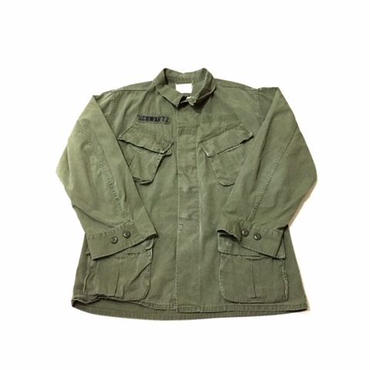 【USED】NO BRAND military shirt オリーブ M