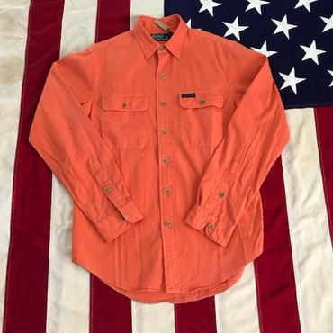 【USED】POLO RALPH LAUREN work shirt オレンジ S