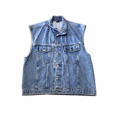 【USED】HARLEY-DAVIDSON DENIM vest ライトインディゴ L