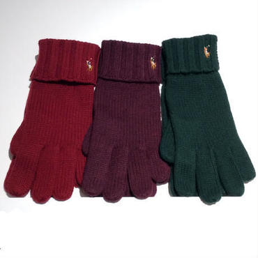 POLO RALPH LAUREN BIG PONY KNIT gloves
