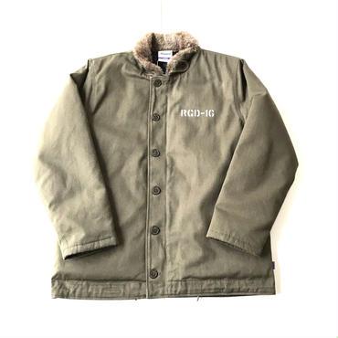 RUGGED FUR DUCK jacket カーキ L