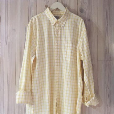 【SALE】J.CREW PLAID shirt イエロー L